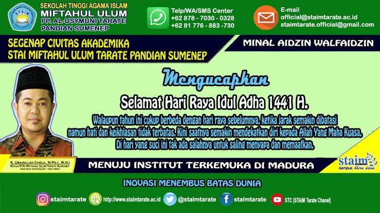 Selamat Hari Raya Idul Adha 1441 H.